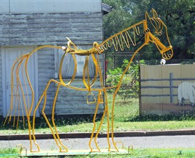 Augathella Wrought Iron Sculptures - WA Accommodation