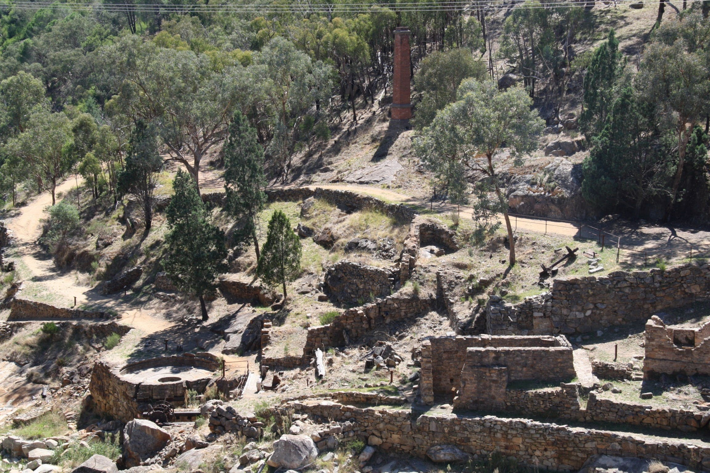 Adelong Falls Gold Mill Ruins - WA Accommodation