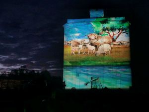 Quorn Silo Light Show - WA Accommodation