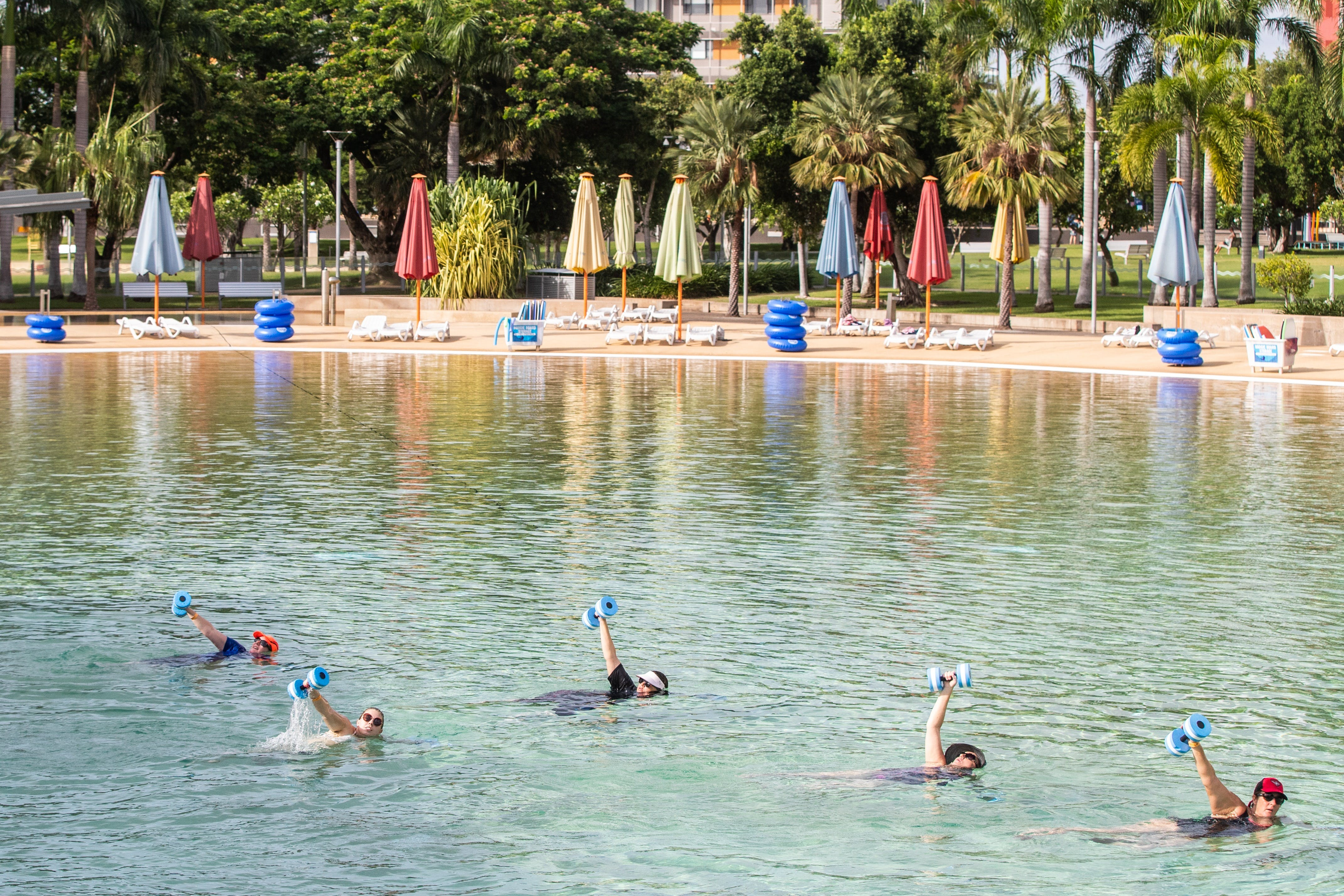 Aqua fitness in the Wave Lagoon - WA Accommodation