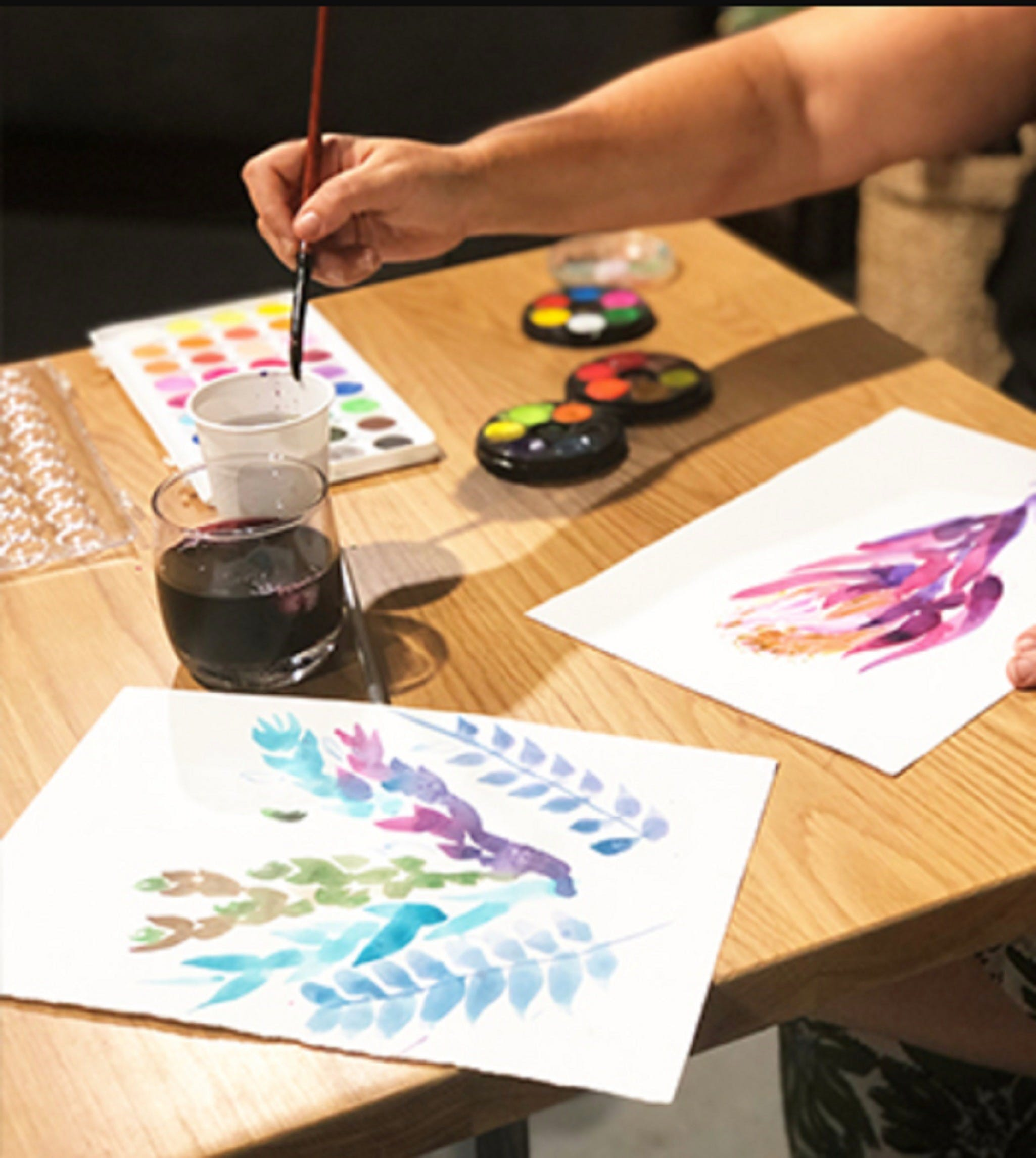 Paint and Sip Class Watercolour and Wine - WA Accommodation