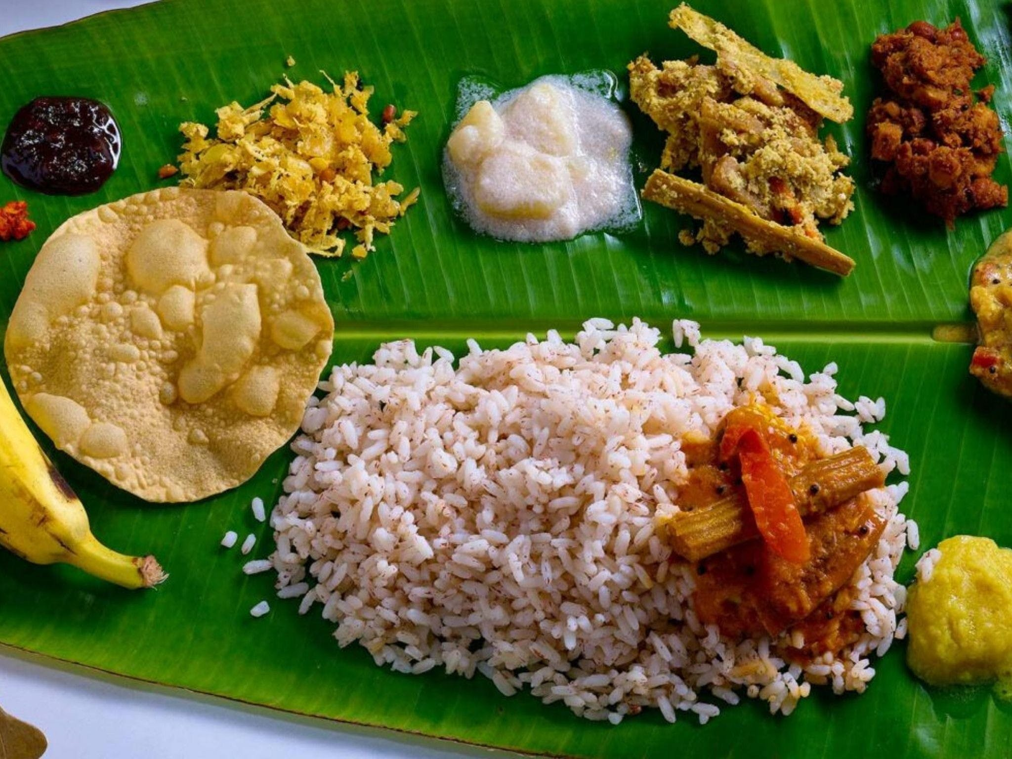 Babaji's Big Fat Keralan banana leaf feast - WA Accommodation