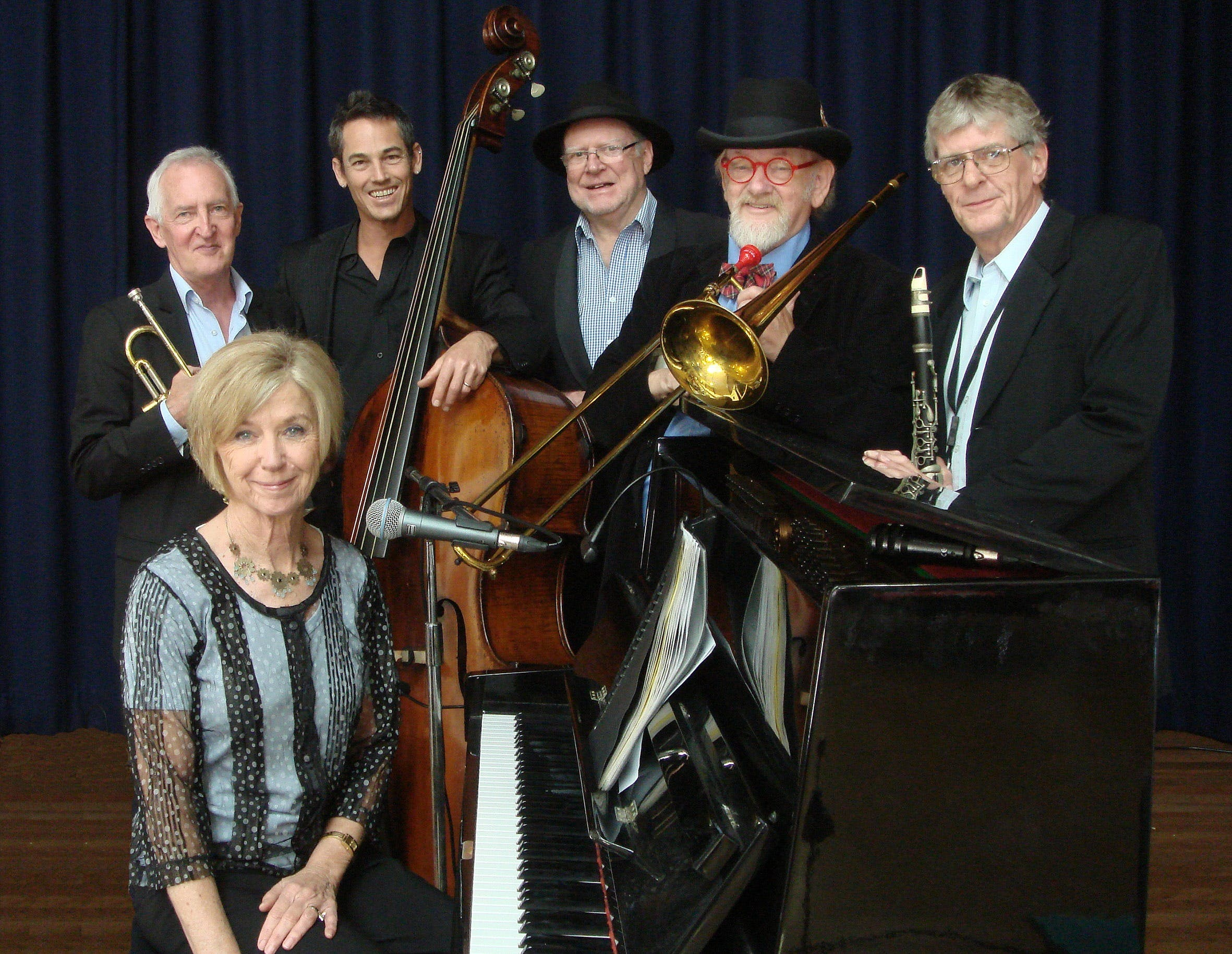 The Caxton Street Jazz Band in the Swigmore Hall at Robert Channon Wines - WA Accommodation