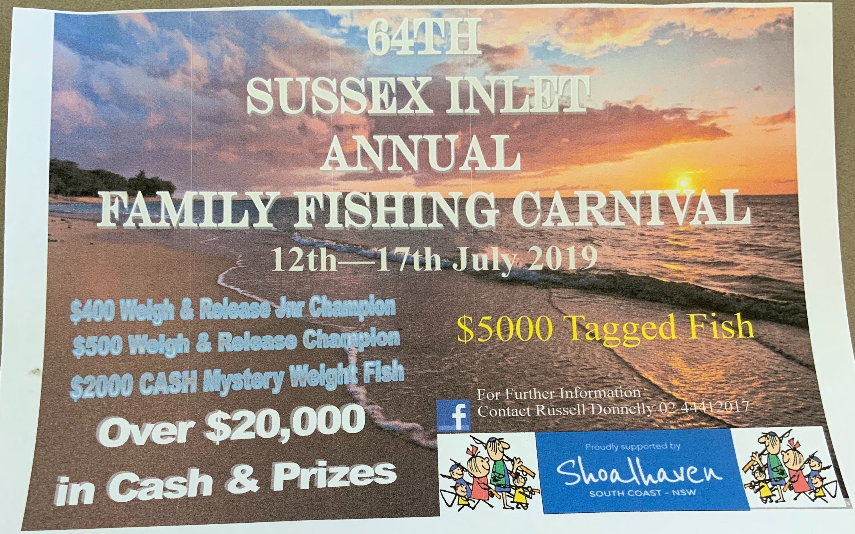 The Sussex Inlet Annual Family Fishing Carnival - WA Accommodation